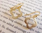 Van Cleef & Arpels inspired gold vermeil clover earrings