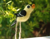 Goldfinch Song Bird - Felted Wool Creature