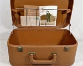 Vintage Train Case WWII Travel Case Mens Luggage