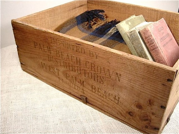 large wood crate vintage french wine crate industrial