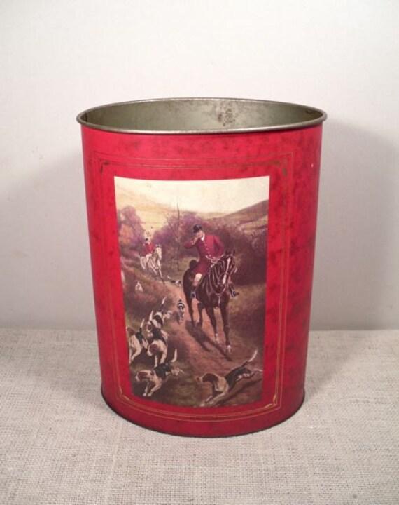 Vintage Trash Can Metal Decorative Trash Bin