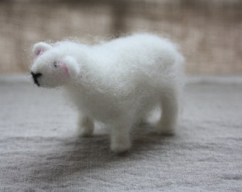 Sheep - needle felted animal - soft sculpture