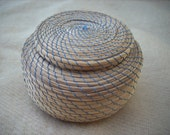 Vintage Sweetgrass Basket from Northern Michigan