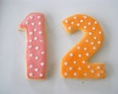 1 Dzn. Big Number Cookies-4 in. tall