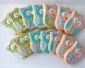1 dzn. Whimsical Owl Cookies
