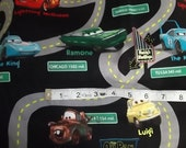 1 yard Lightning Mqueen fabric from Cars1, 2 yards available if you like