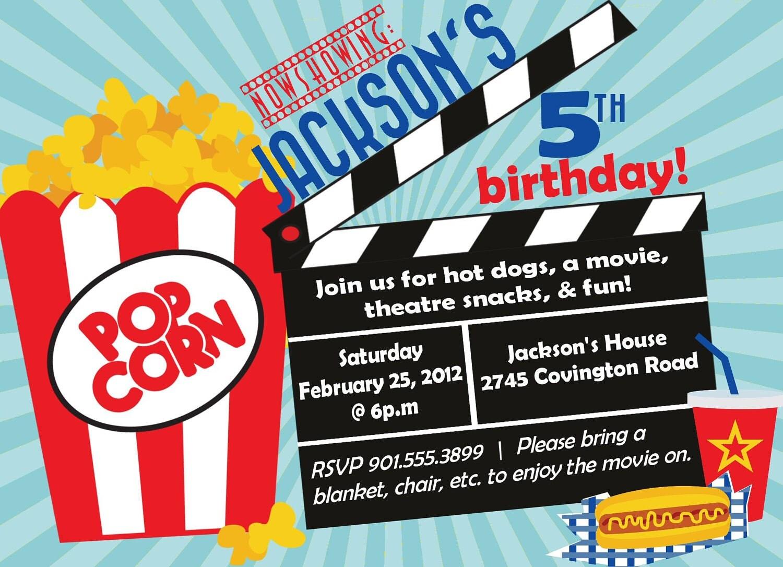 Movie Birthday Party Invitation Boy Birthday by EveryMakingMoment