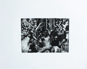 Girl Talked, Concert Etching, Black and White, Sweaty Summer Fun