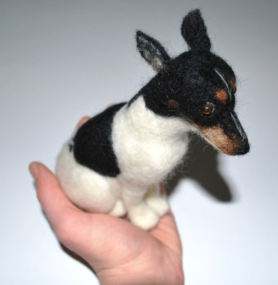 Realistic Custom Made Personalized Miniature Felted Animals - Pets, Dogs, Cats, etc