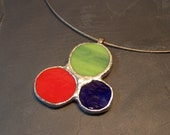 Mulit Color Stained Glass Pendant
