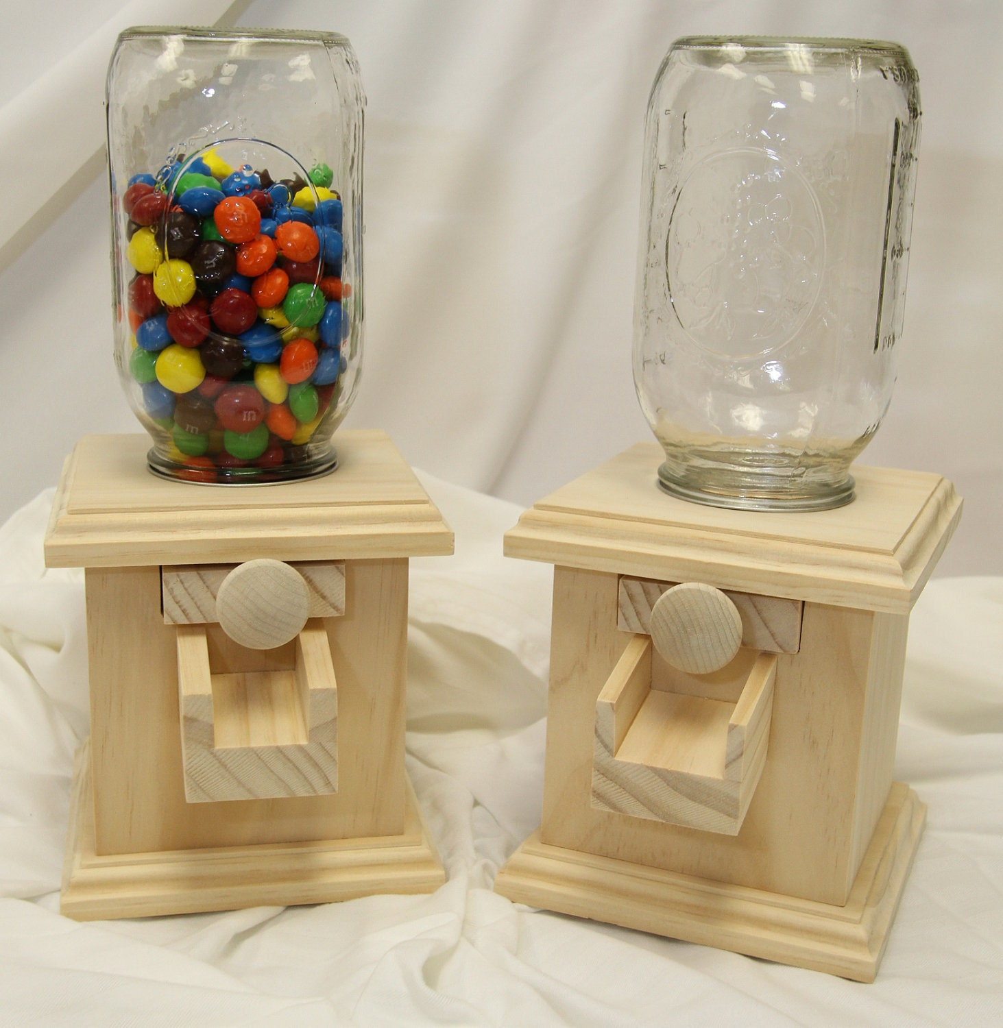 wood candy dispenser