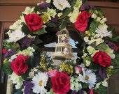Birdhouse Spring Wreath