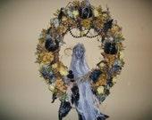 Gothic Ghoul Halloween Wreath