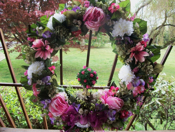 Mothers Day ink Topiary Wreath