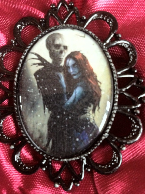 Jack and Sally nightmare before christmas Tim Burton Ring
