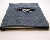 Reserved for Careen: iPad Case Netbook Sleeve Cover Felted Wool Sweater in Blue with pocket