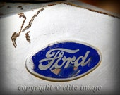 CLASSIC CAR for Him - Vintage Ford Automobile Hood Ornament, Chrome Grille, Model Logo - 8x10 Photograph Only - Fathers Day