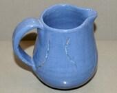 Carved Blue Creamer
