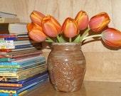 Distressed Mossy Vase
