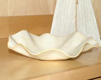 Creamy yellow modern organic platter