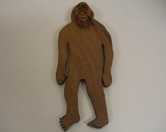 Standing Bigfoot Redwood Magnet