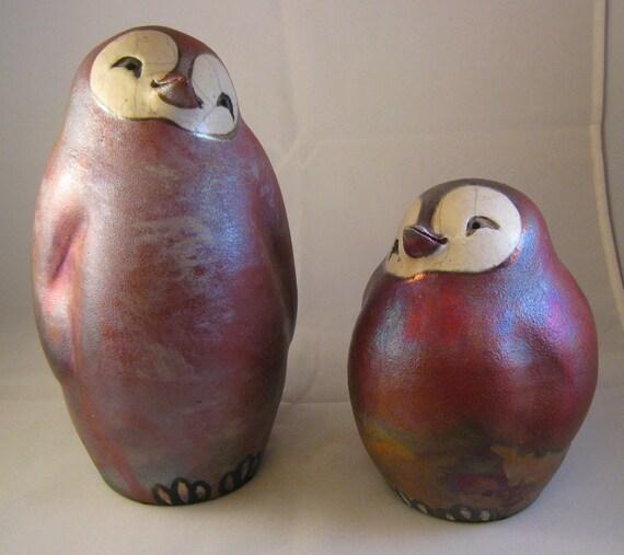 Playful Penguin Pair