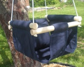 Portable Outdoor Indoor Fabric Baby Infant Swing to Toddler Swing - Baby Toy in Navy Blue