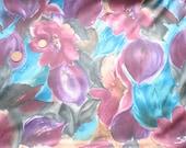 Beautiful Vintage Floral Fat Quarter Purple Blue Pink Orange