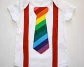 Circus Clown Rainbow Brite Tie Suspenders Applique Onesie or Tshirt Long or Short Sleeve Great for Birthday Pictures