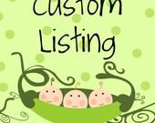 Custom Listing for Julie Hackworth