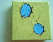 SALE Abstract Original Painting Miniature Canvas Art Magnet