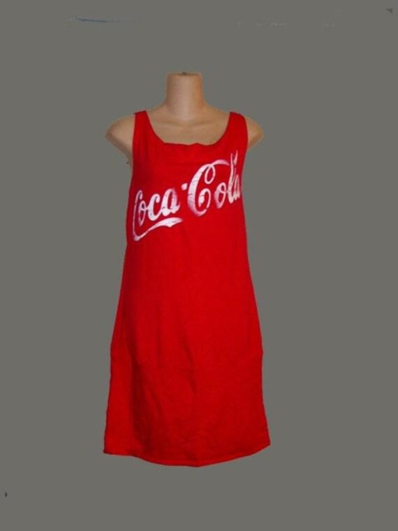 NWT Vtg Coke Coca Cola Tee Shirt Dress LG