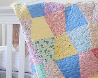 Baby Quilt Kit - Tumbler quilt - Pre-cut quilt kit