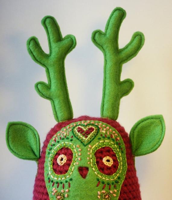 Unique embroidered plush by LokiCoki
