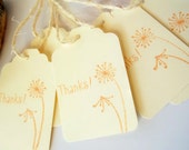 Dandelion Gift Tags , Wedding Favor Thank You Tags -By Lilly Things