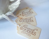 Homemade Goodies Tags- Tea Stain- Mini Thank You Tags