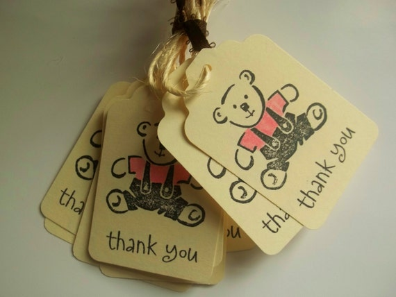 vintage baby shower favor tags thank you by lillythings on etsy
