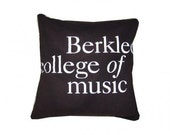 "Berklee College of Music recycled t-shirt pillow tshirt throw pillow cushion 14x14"" pillow"