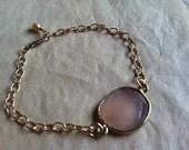 Lovely Light Pink Chalcedony Vermeil Bracelet