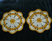 Crochet Pot Holder Doily Set Of Two