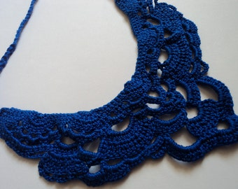 Custom Color Crocheted Bib Necklace