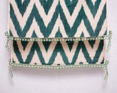 crochet ikat scarf with bead-lace ends - Turkish OYA - 15.75'' x 78.74'' - FAST worldwide shipment with UPS - 159