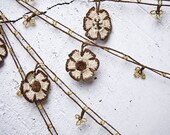 """Crochet necklace - turkish lace - needle lace - oya necklace - 128.74"""" - FAST worldwide shipment with UPS - fatma-009"""