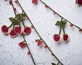 "turkish lace - needle lace - crochet - oya necklace - 137.80"" - FAST worldwide shipment with UPS - halime-009"