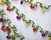 "Crochet necklace - turkish lace - needle lace - oya necklace - 133.86"" - FAST worldwide shipment with UPS - saime-027"