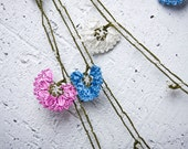 "Crochet necklace - turkish lace - needle lace - oya necklace - 135.83"" - FAST worldwide shipment with UPS - bahar-014"