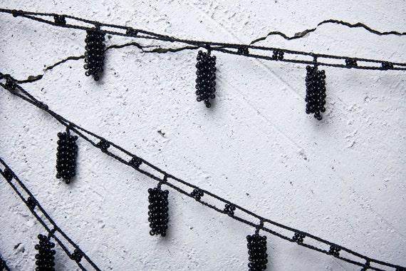 "turkish lace - needle lace - crochet - oya necklace - 118.11"" - FAST worldwide shipment with UPS - saime-013"
