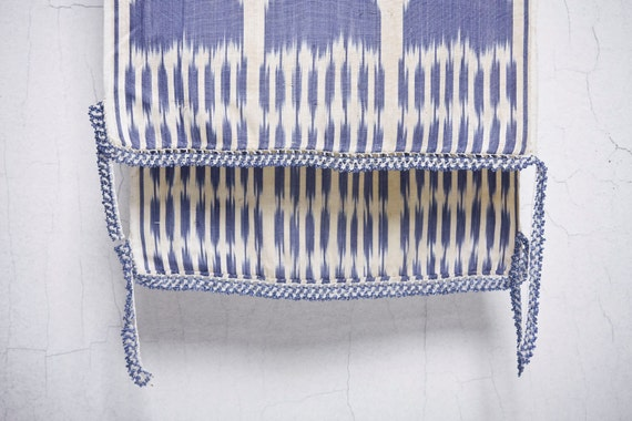 """crochet ikat scarf with bead-lace ends - Turkish OYA - 13.78"""" x 80.12"""" - FAST worldwide shipment with UPS - 001"""