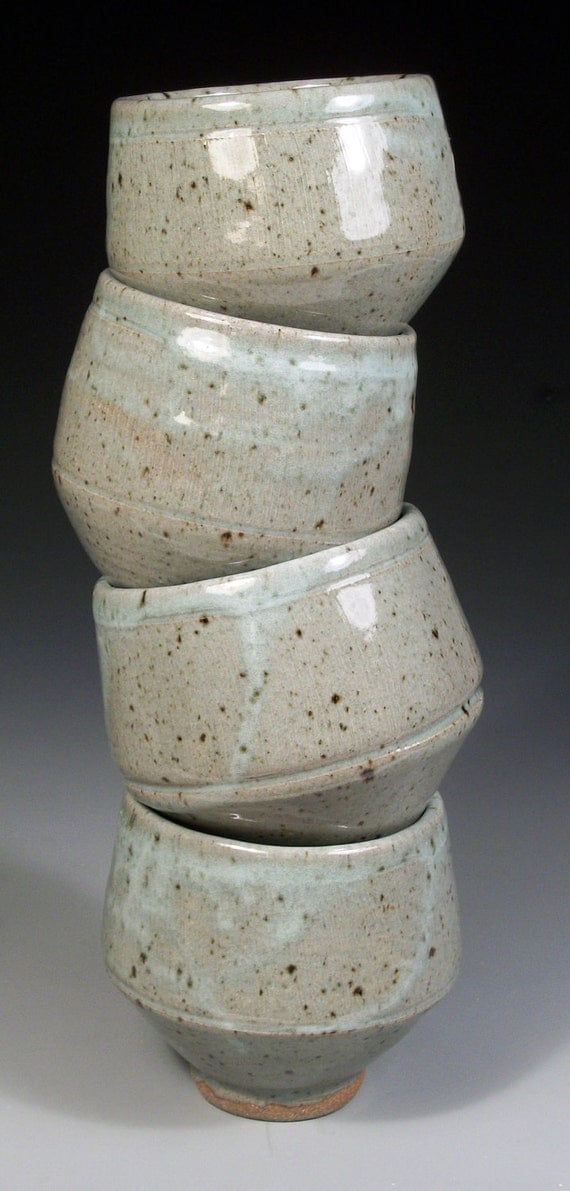 Set of four  stacking bowls