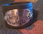 make the most of every mile cuff bracelet
